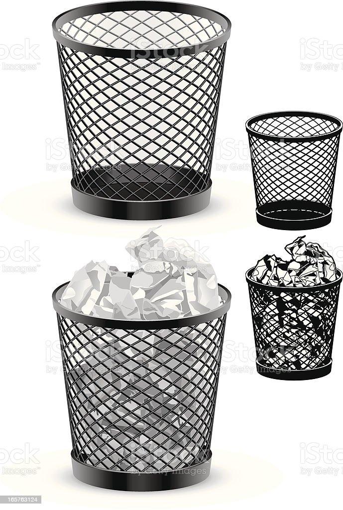 Wastepaper Basket wastepaper basket clip art, vector images & illustrations - istock