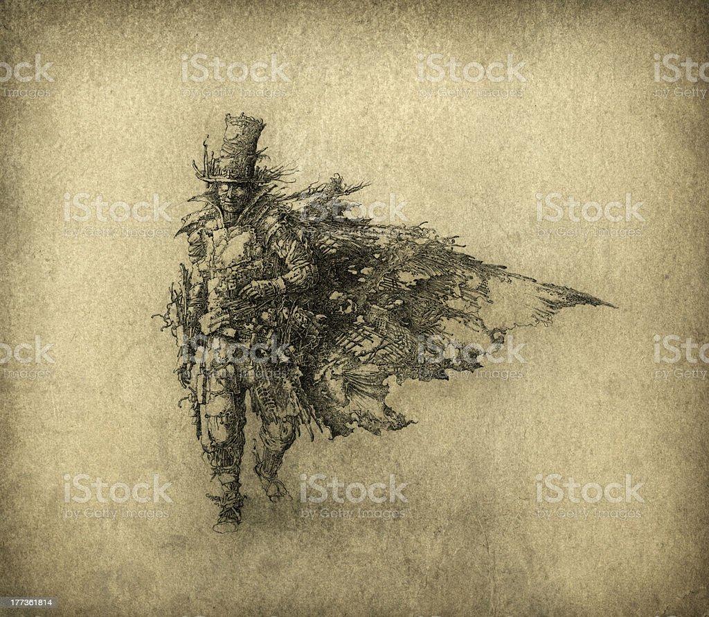 Trash Man vector art illustration