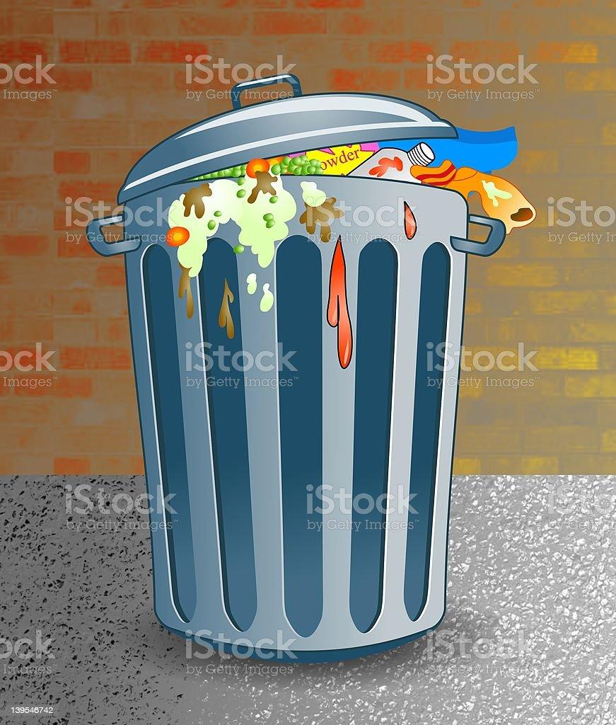 Trashcan royalty-free stock vector art