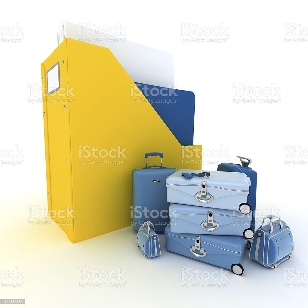 Travel files vector art illustration