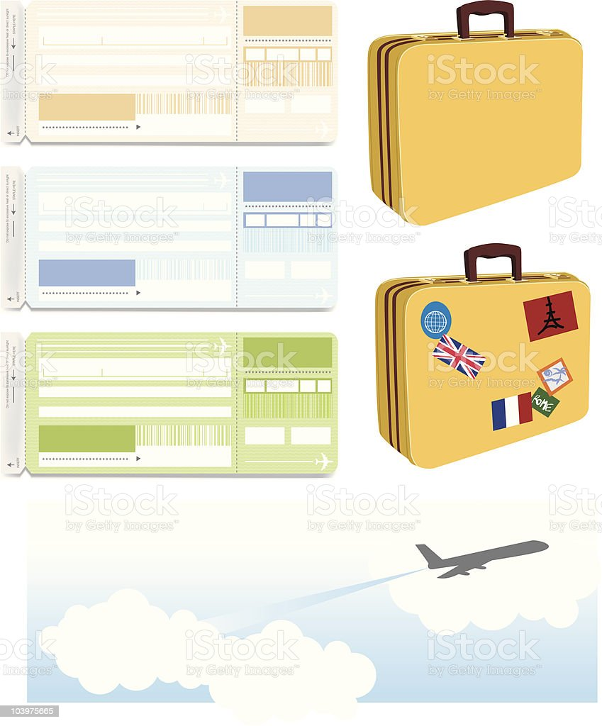 Travel Items royalty-free stock vector art