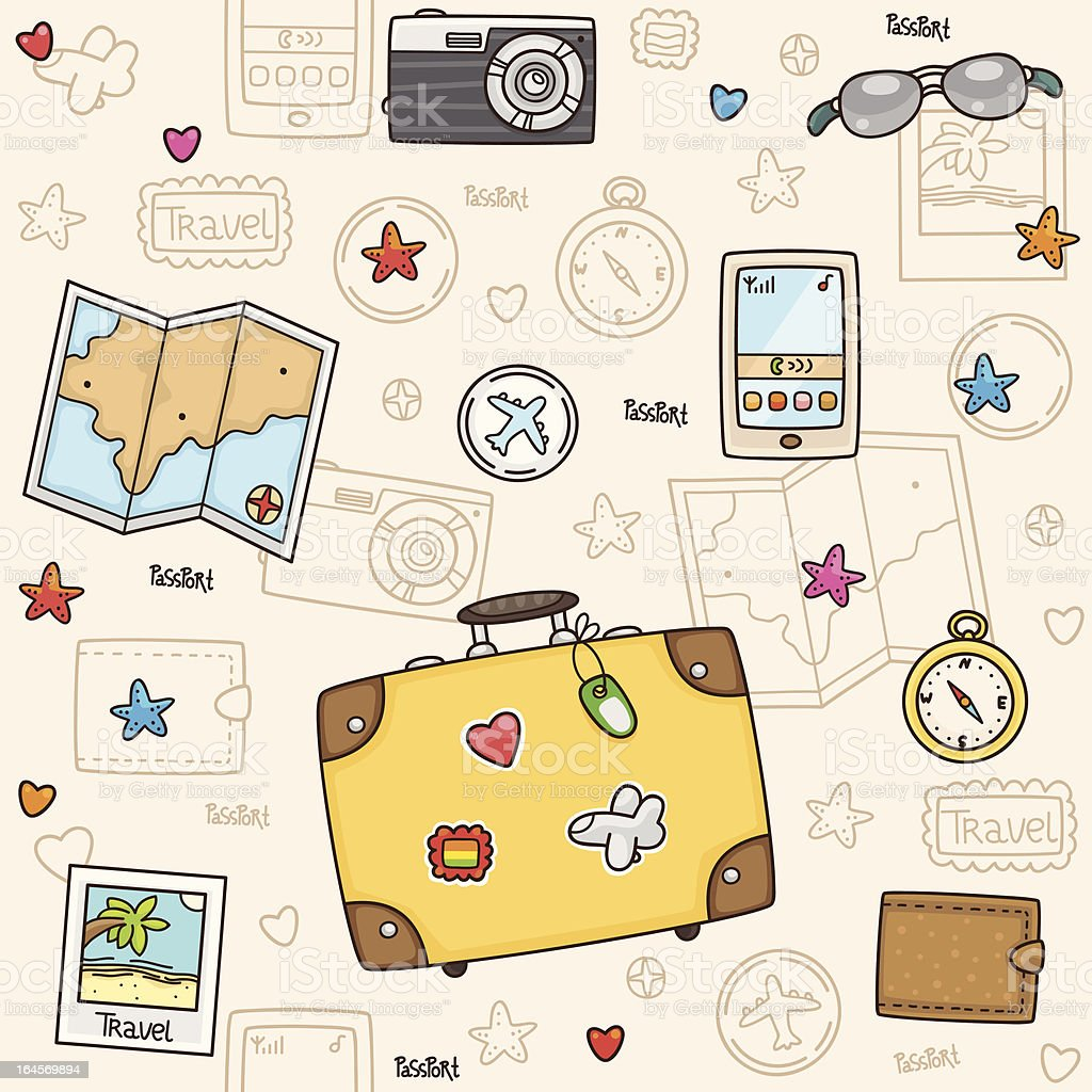 Travel pattern royalty-free stock vector art