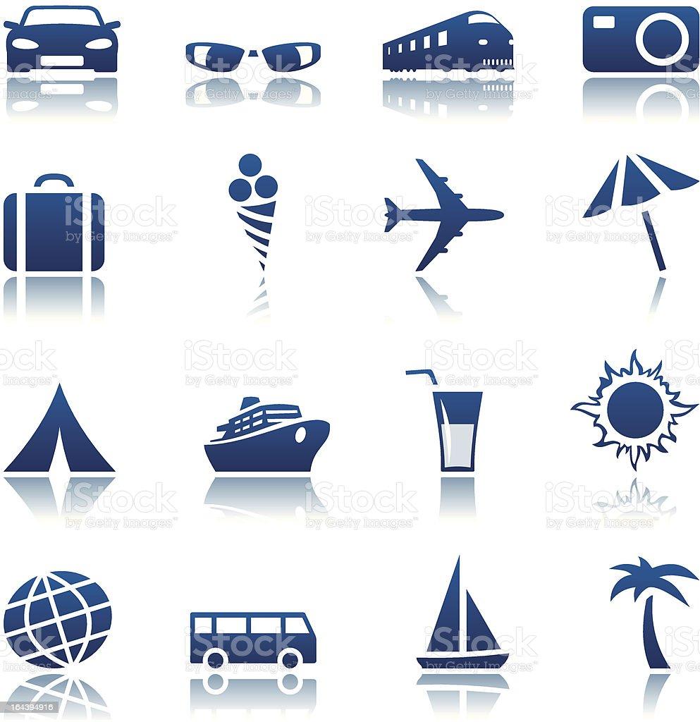 & Ensemble d'icônes de voyage tourisme stock vecteur libres de droits libre de droits