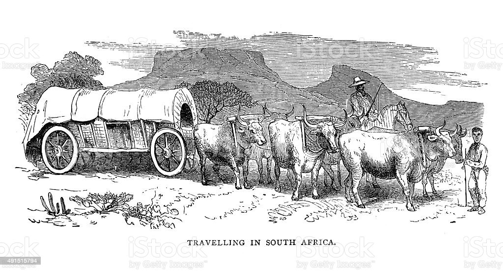 Travelling in South Africa vector art illustration