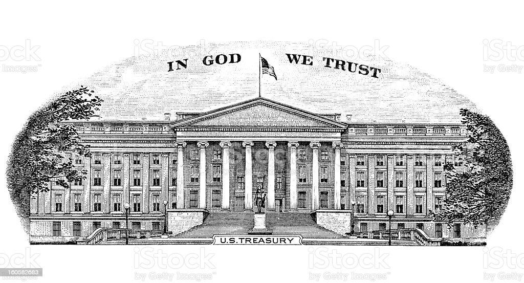 US Treasury royalty-free stock vector art