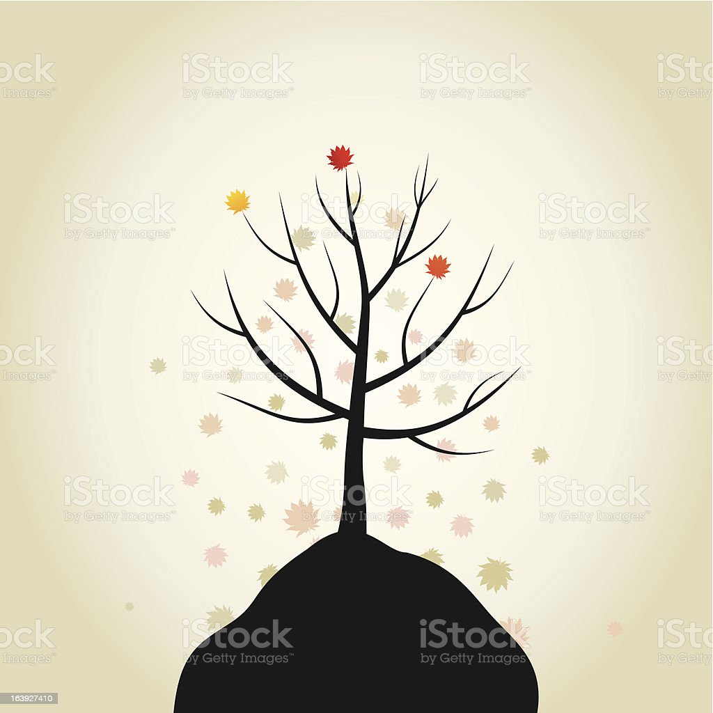 Tree autumn royalty-free stock vector art
