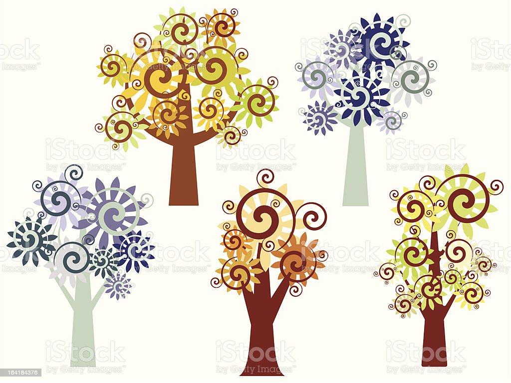Tree Design Series royalty-free stock vector art