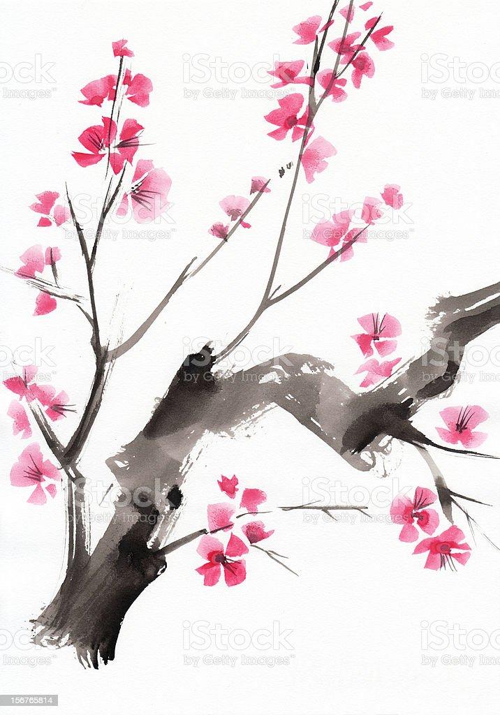 Tree in blossom vector art illustration