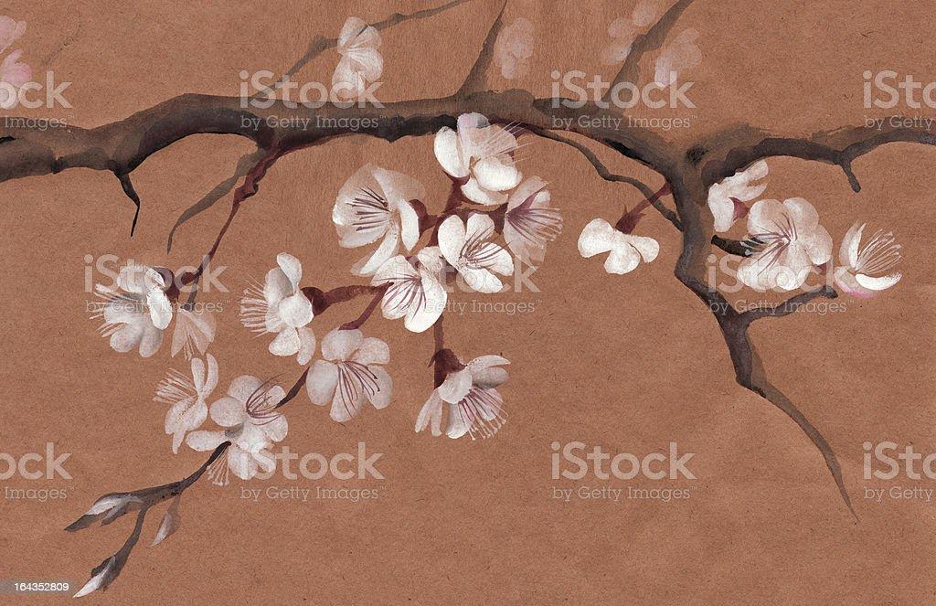 Tree in blossom royalty-free stock vector art