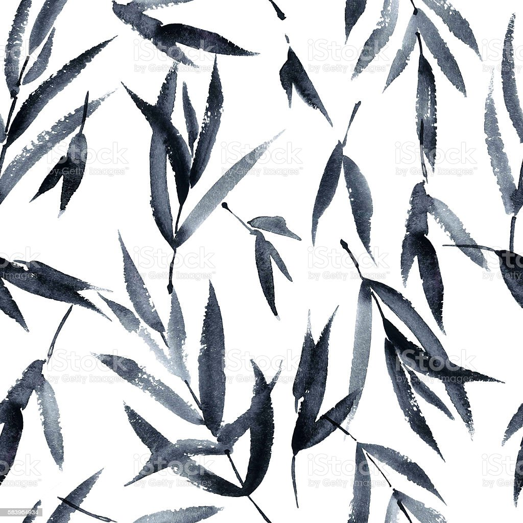 Tree leaves pattern vector art illustration