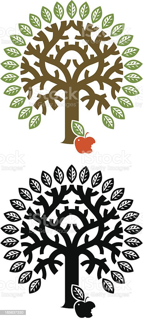 Tree of Knowledge royalty-free stock vector art