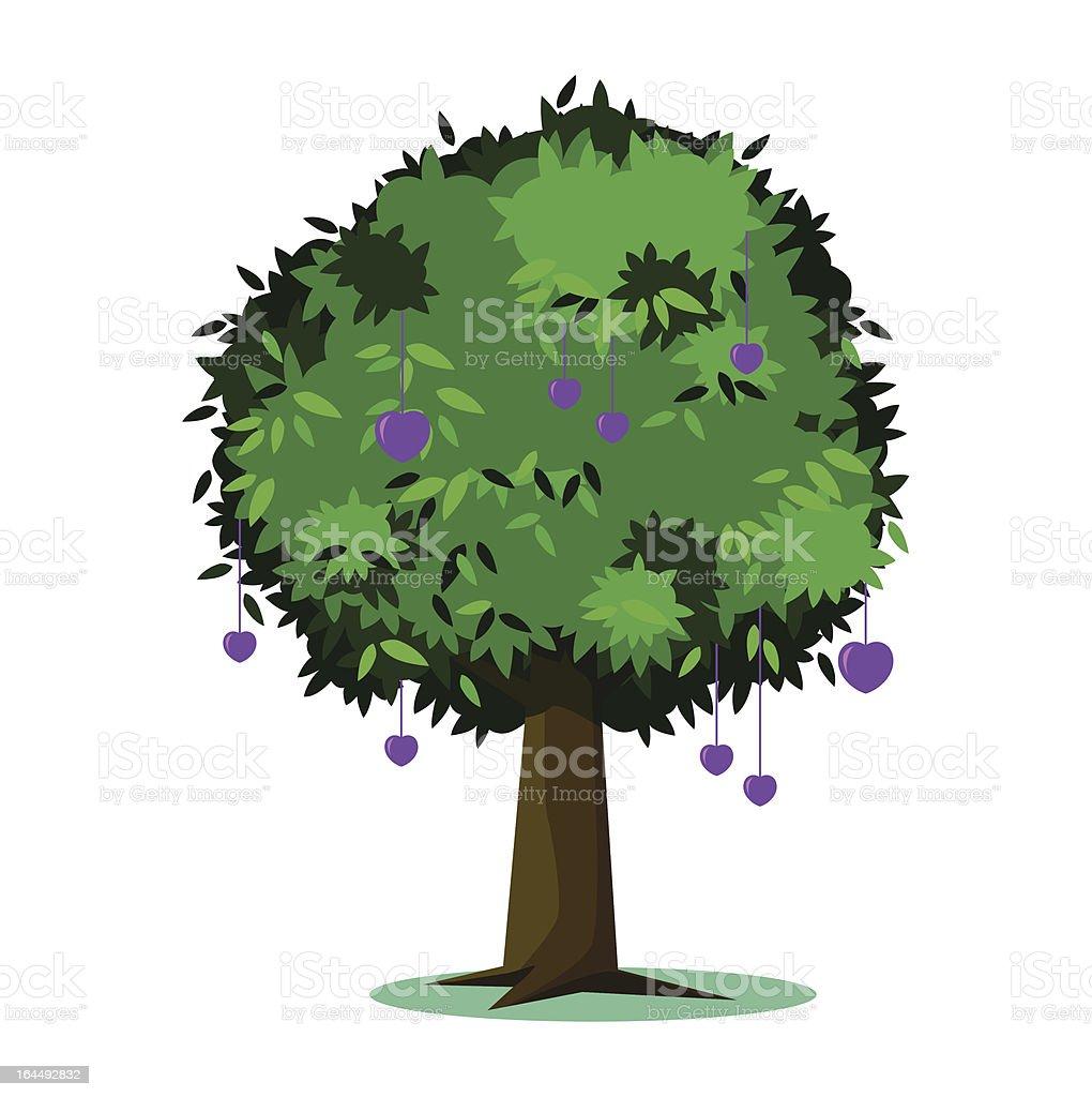 Tree of love royalty-free stock vector art