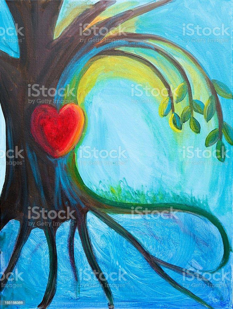 Tree with Heart royalty-free stock vector art