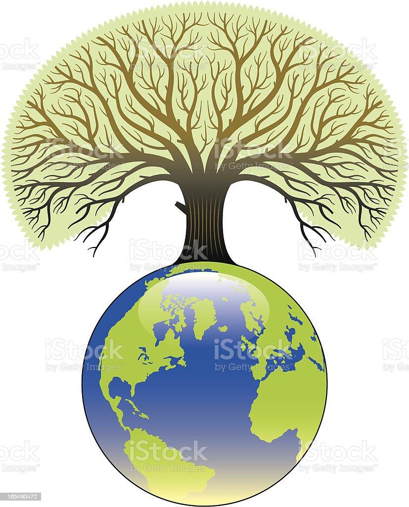 Tree world. vector art illustration