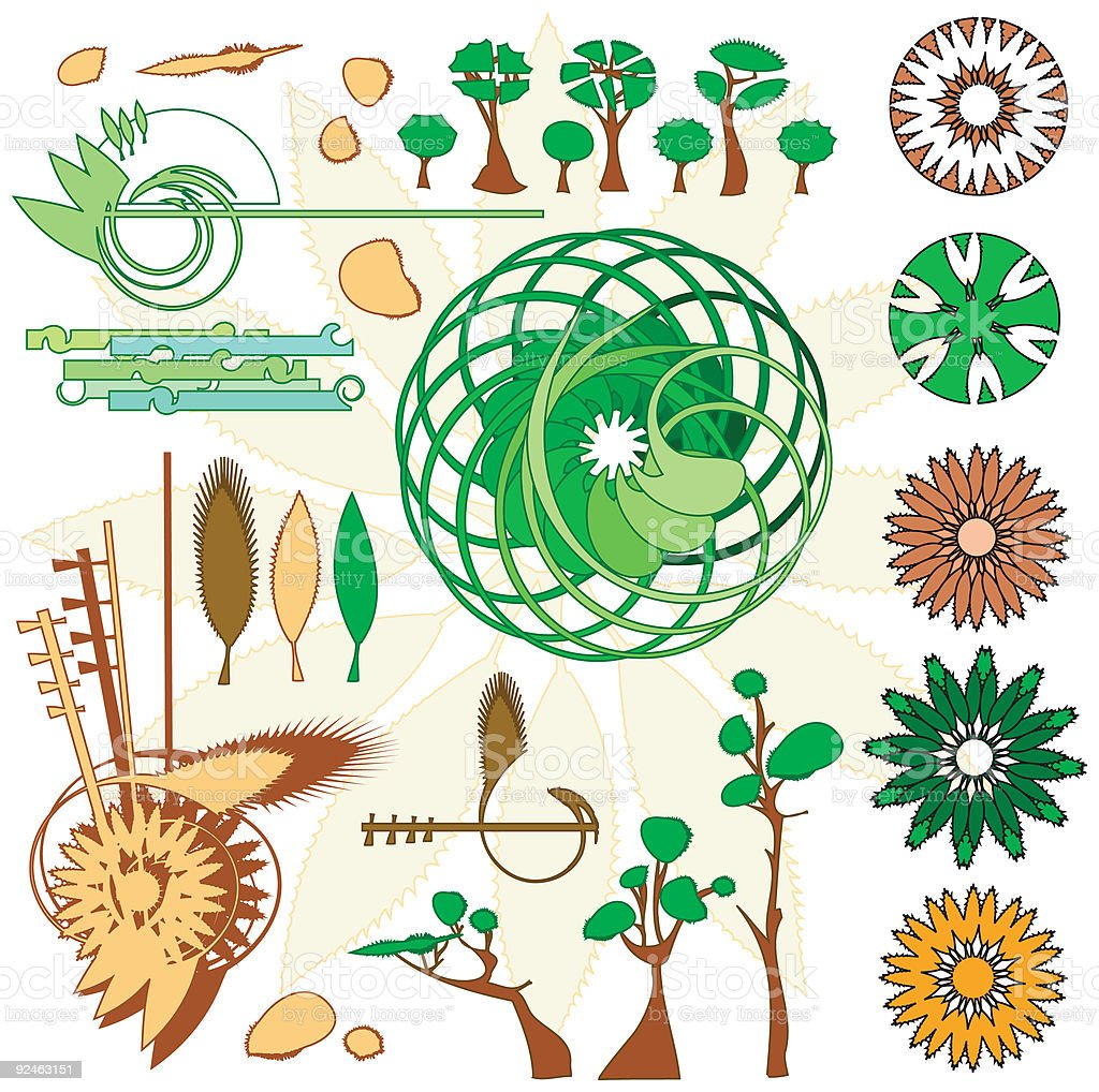 Trees and fauna royalty-free stock vector art
