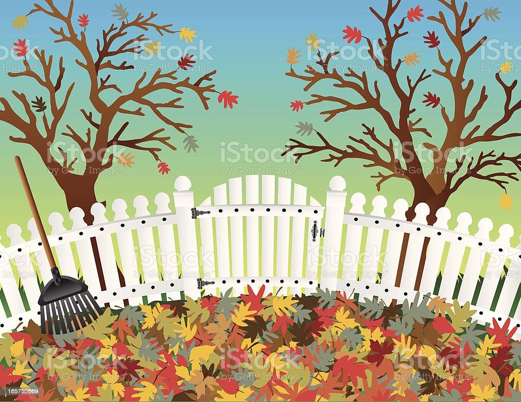 Trees in Fall vector art illustration