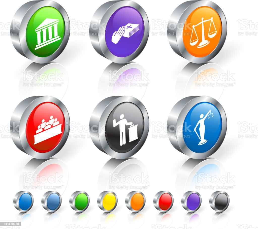 trial royalty free vector icon set royalty-free stock vector art