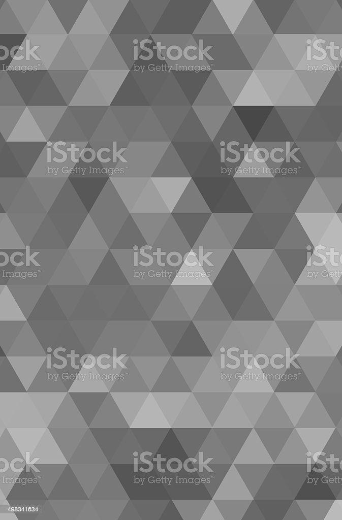 Triangle mosaic vector art illustration