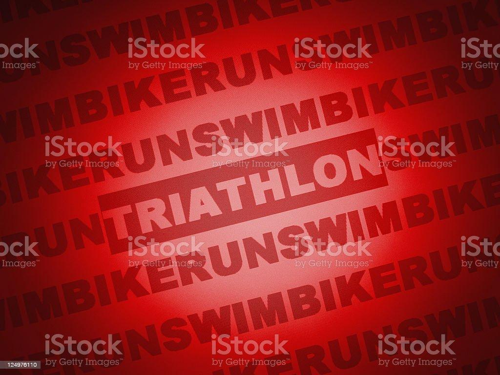 Triathlon royalty-free stock vector art