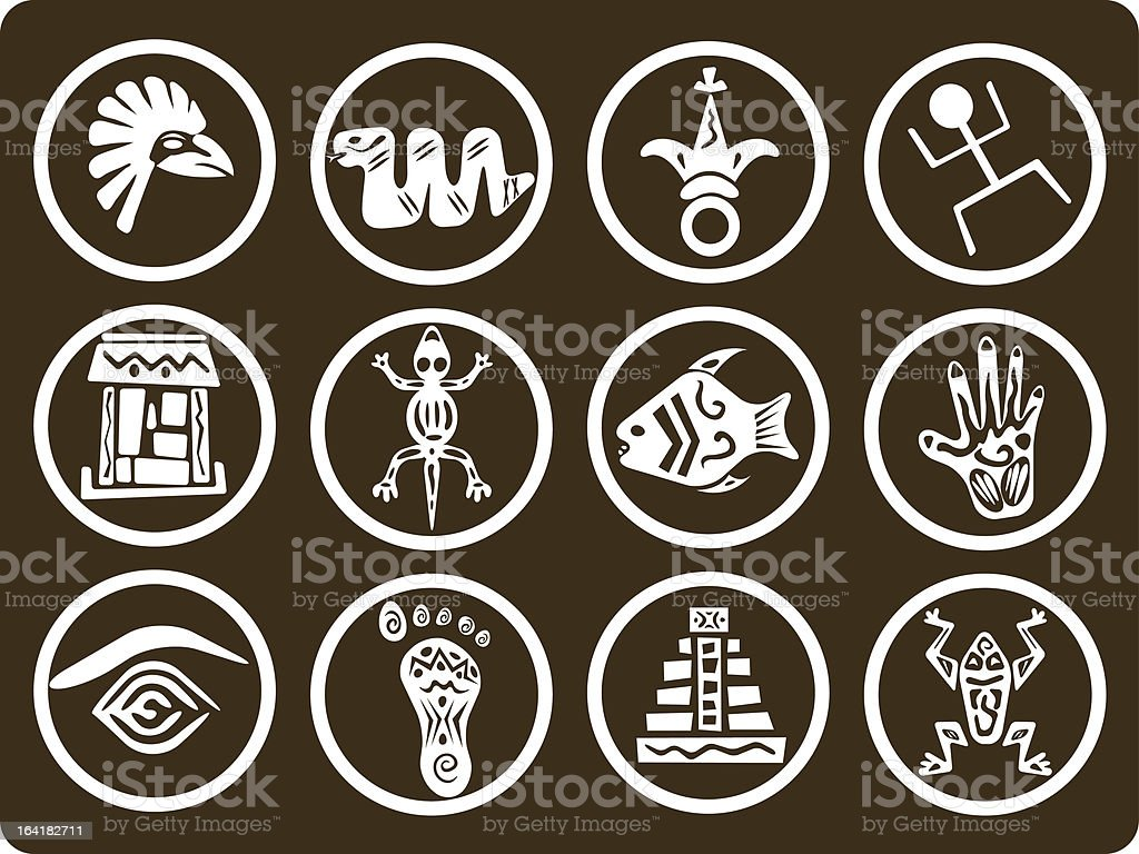Tribal icons royalty-free stock vector art