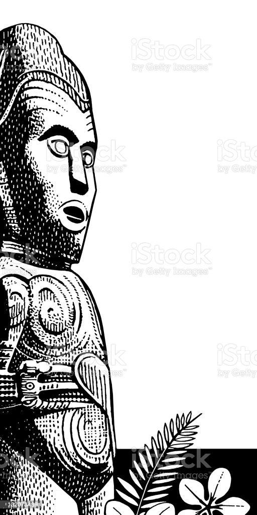 Tribal Statue vector art illustration