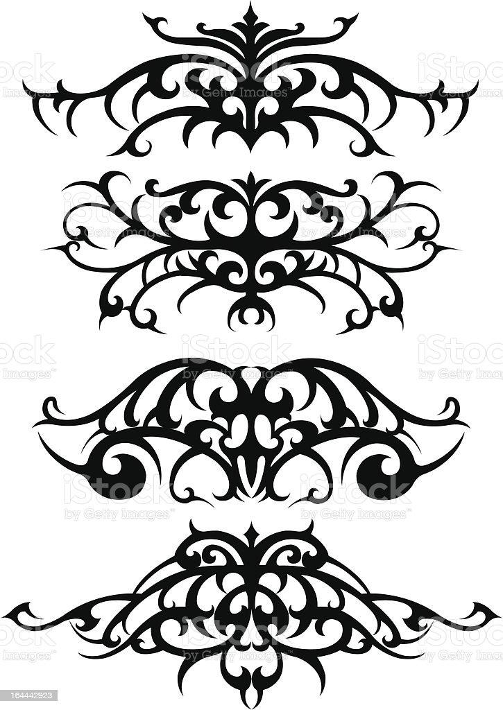 Tribal tattoo set vector art illustration