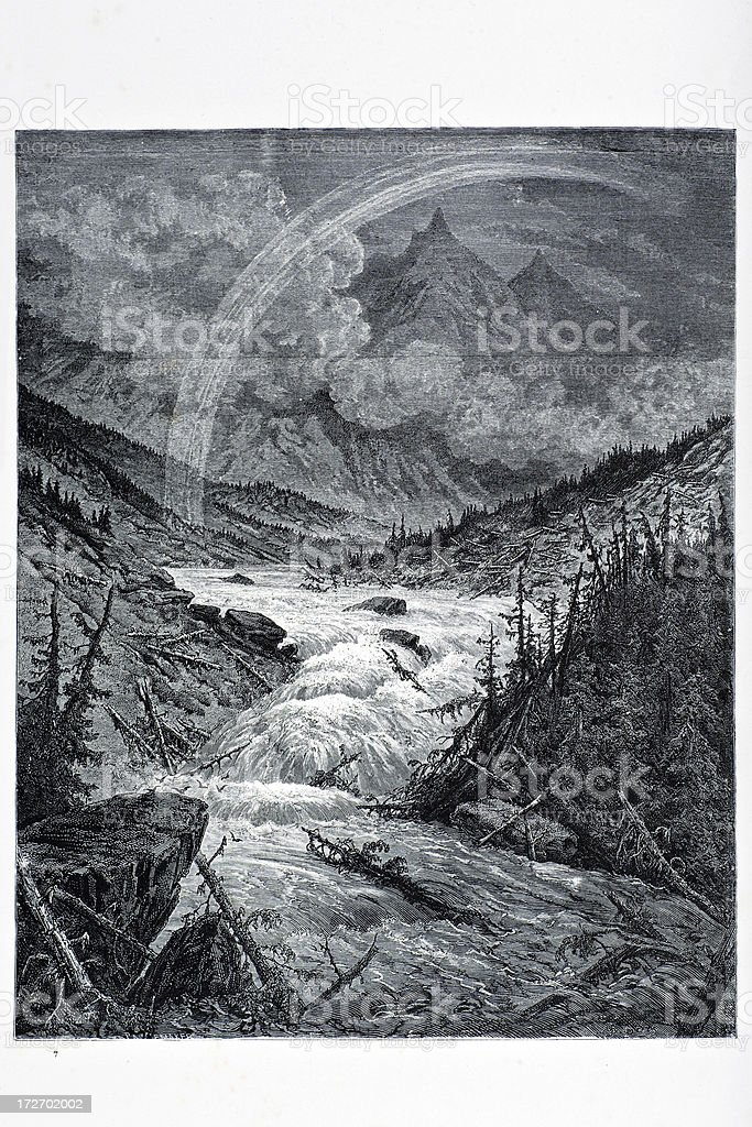 Tributaries of the Mississippi royalty-free stock vector art