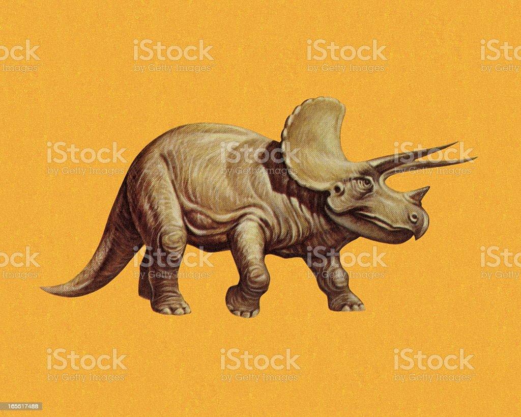 Triceratops vector art illustration
