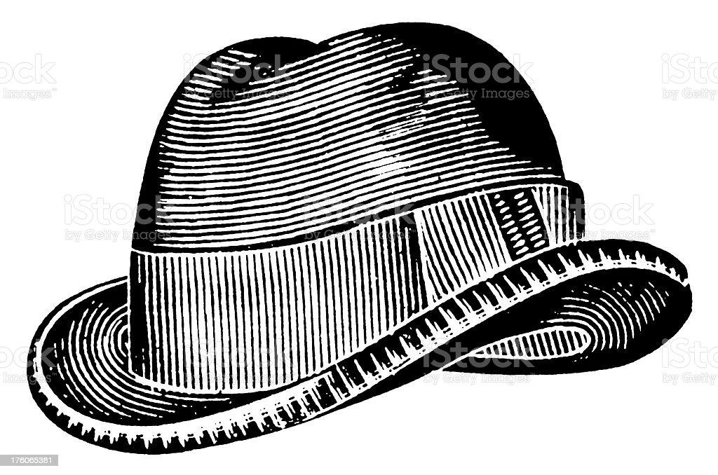 Trilby hat   Antique Design Illustrations vector art illustration