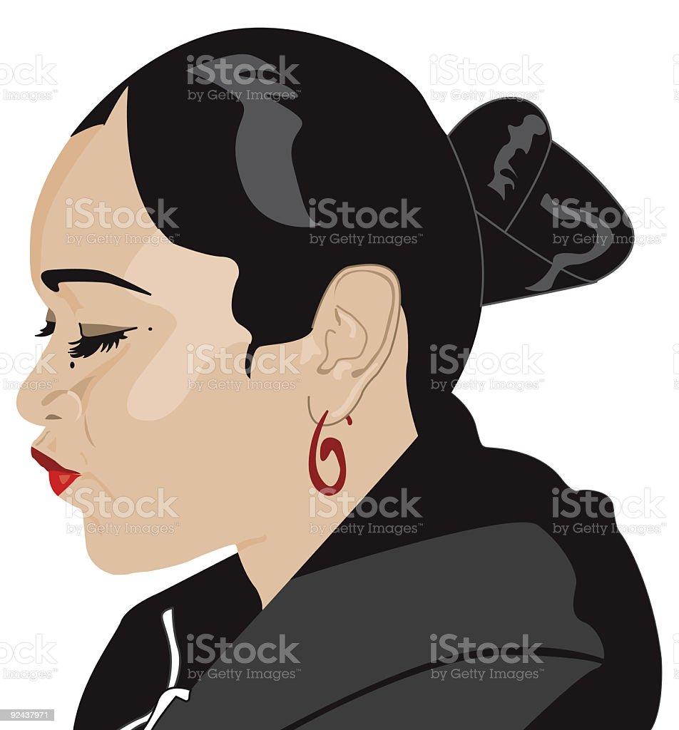 Trini Gyul vector art illustration