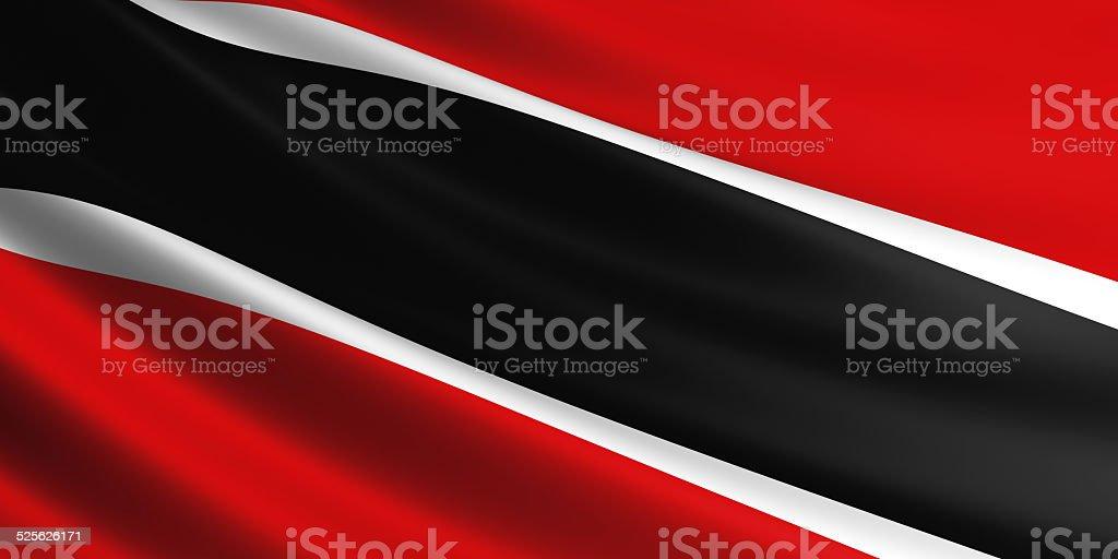 Trinidad and Tobago flag. vector art illustration