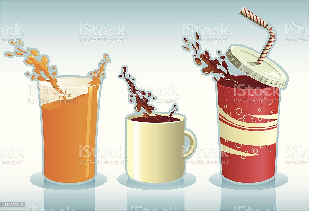 Triple Slpash vector art illustration