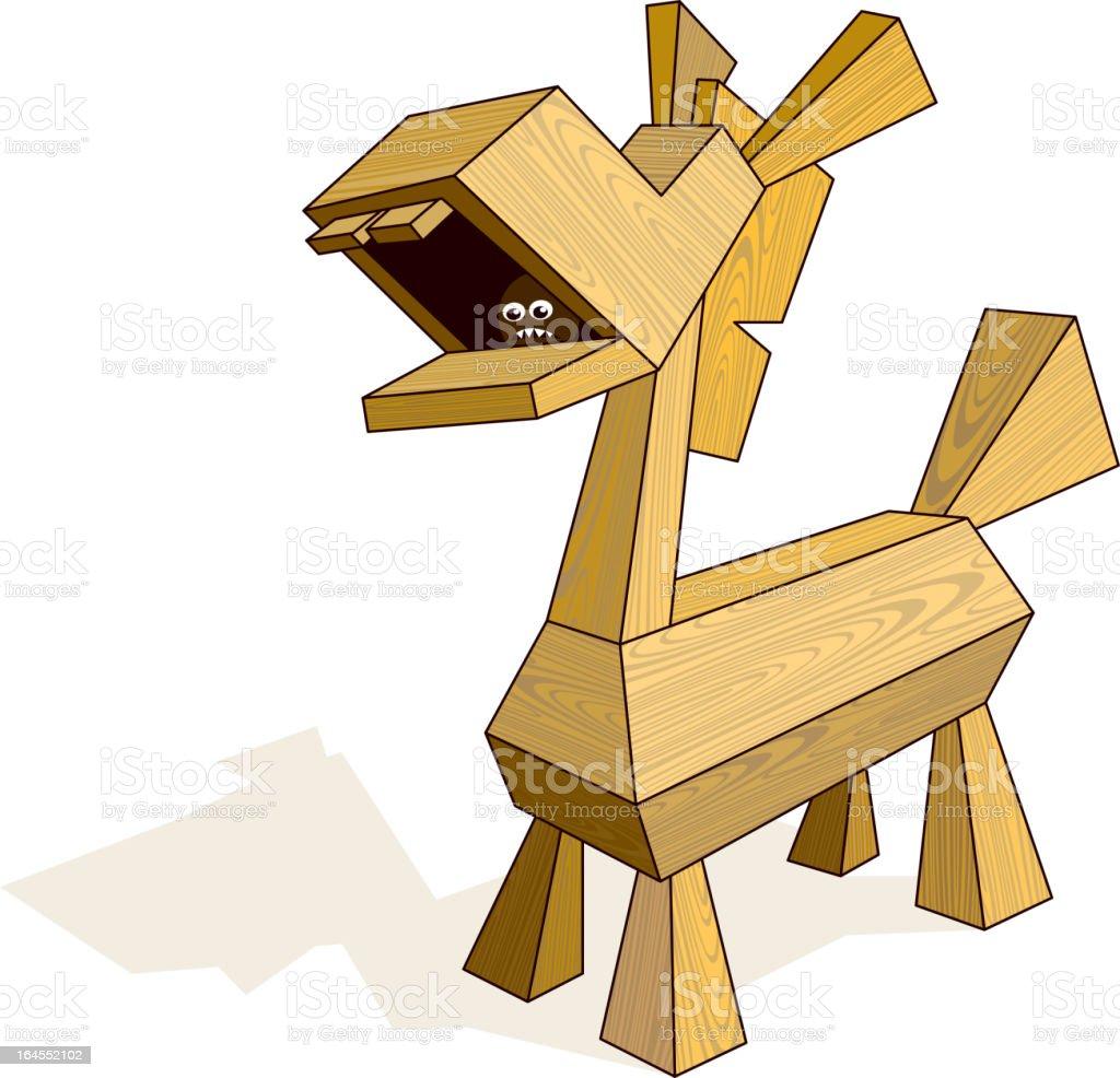 Trojan Horse royalty-free stock vector art