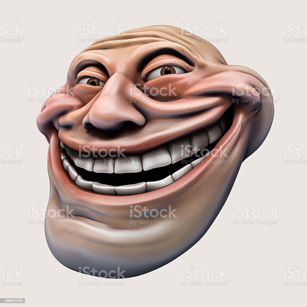 Trollface. Internet troll 3d illustration vector art illustration