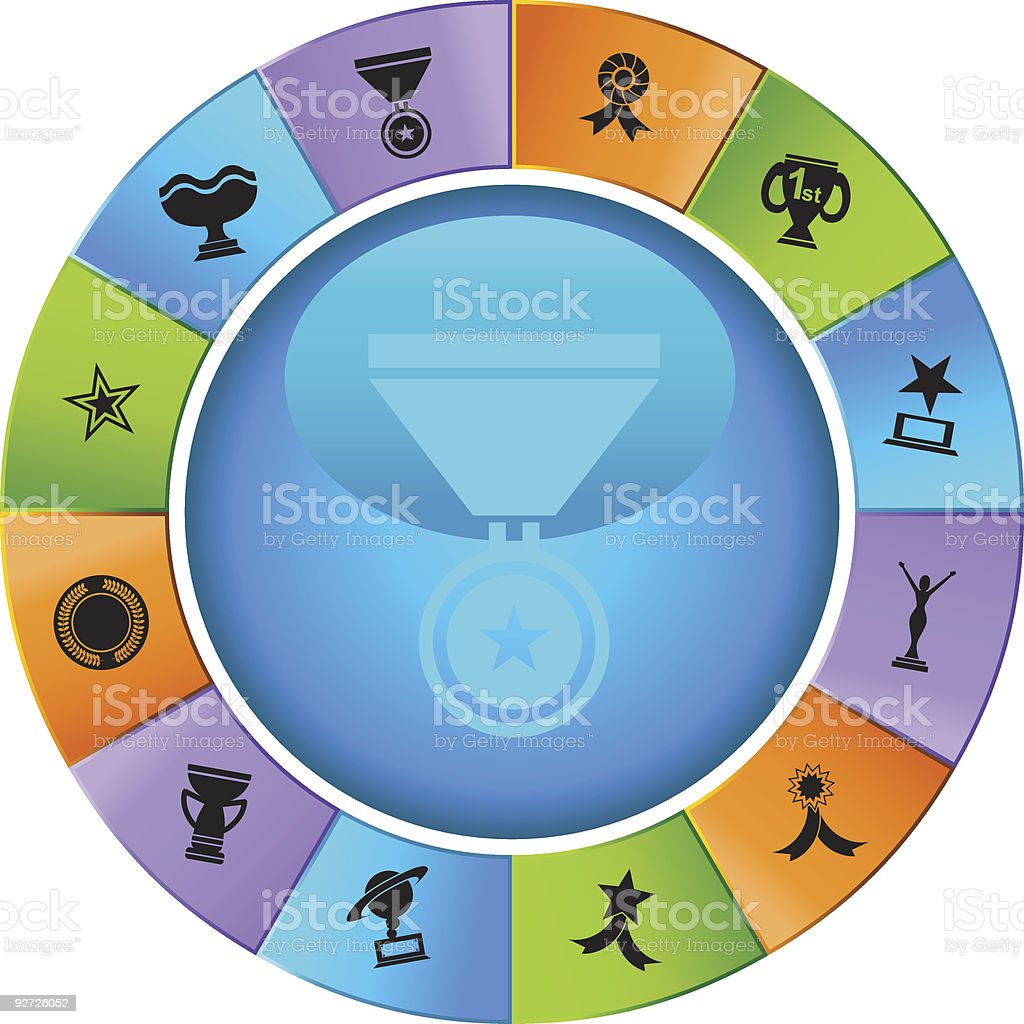 Trophy Wheel royalty-free stock vector art