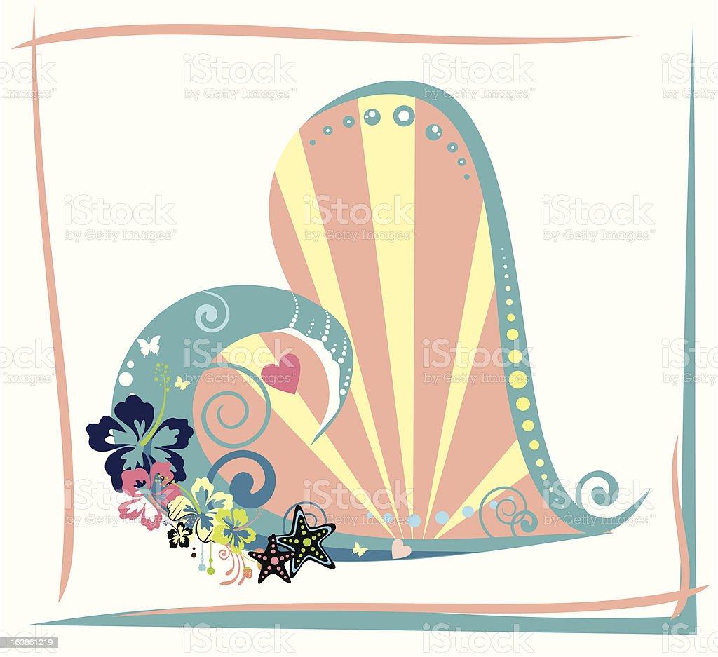 tropical heart royalty-free stock vector art