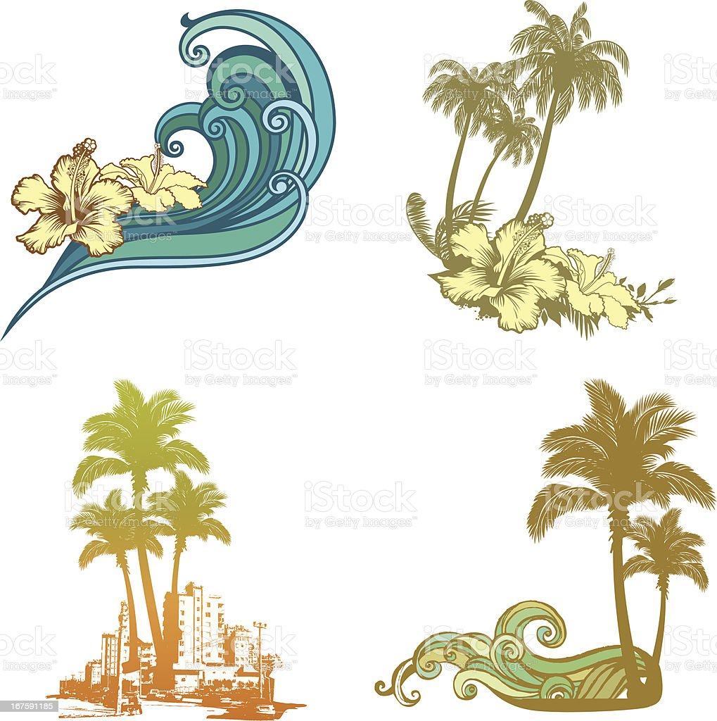 Tropical Logos royalty-free stock vector art