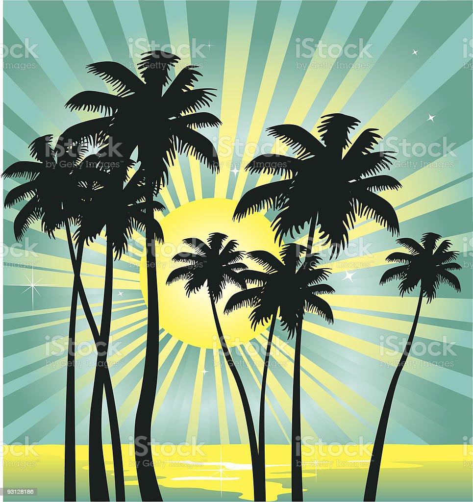 Tropical summer vacation royalty-free stock vector art