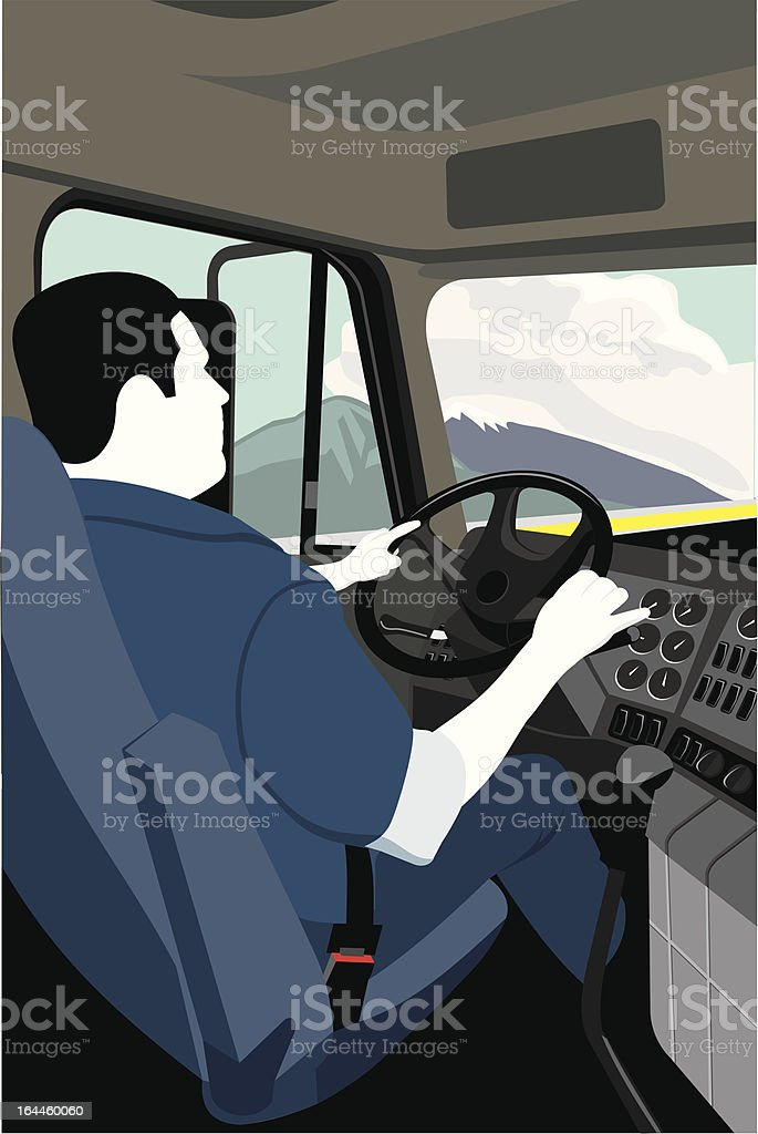 Truck Driver royalty-free stock vector art
