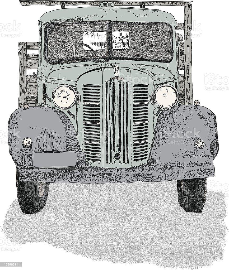 Truck Front vector art illustration