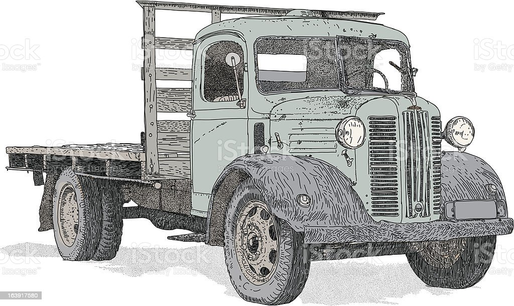 Truck royalty-free stock vector art