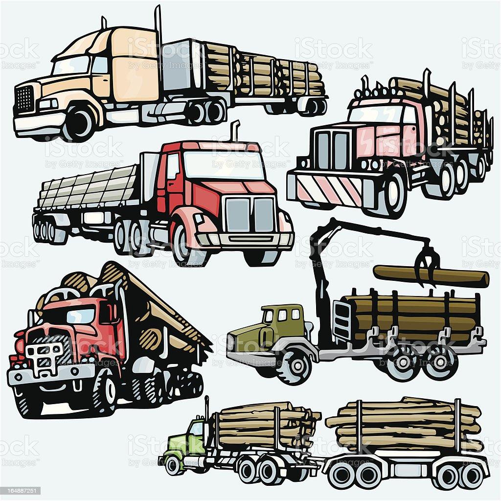 Truck Illustrations V: Forwarders (Vector) royalty-free stock vector art