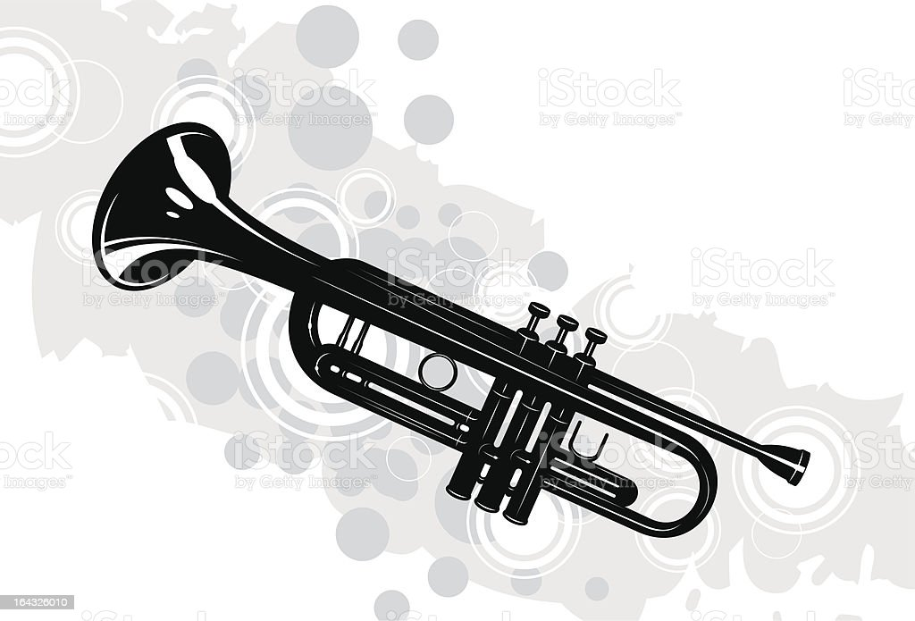 trumpet royalty-free stock vector art