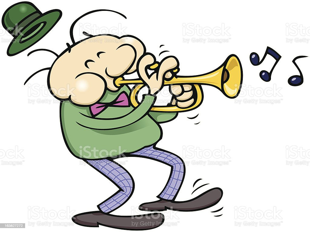 Trumpet musician royalty-free stock vector art