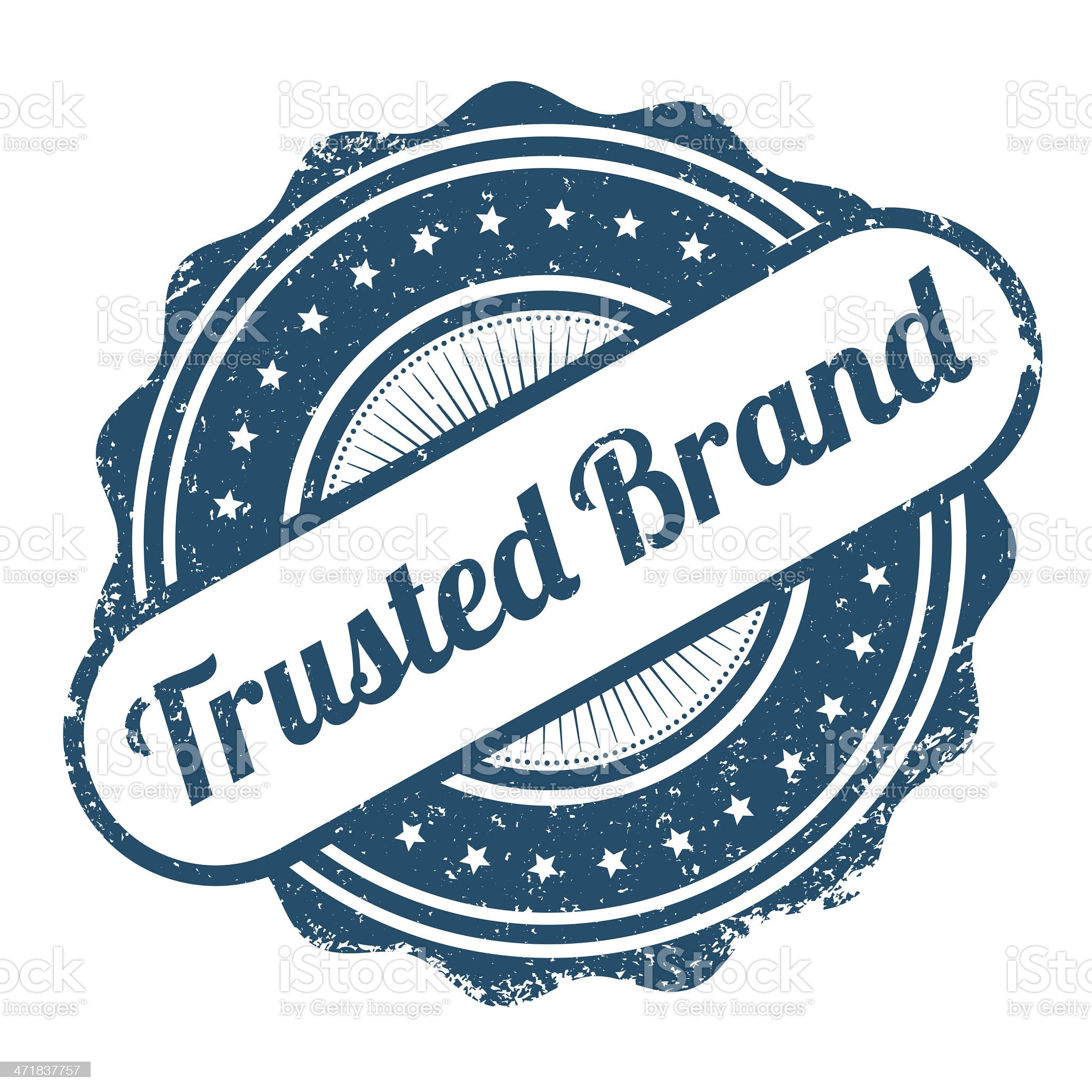 Trusted Brand royalty-free stock vector art
