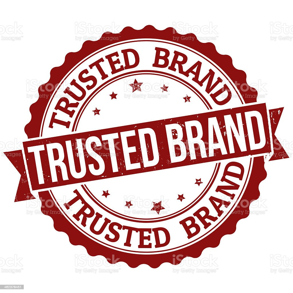Trusted brand stamp vector art illustration
