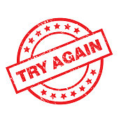 try again label