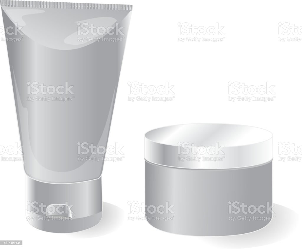Tubes with cream royalty-free stock vector art