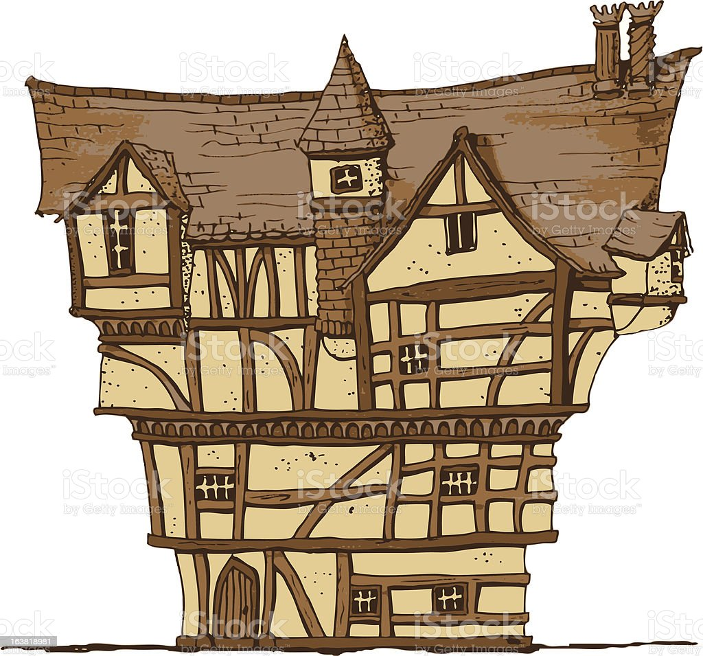 Tudor House vector art illustration