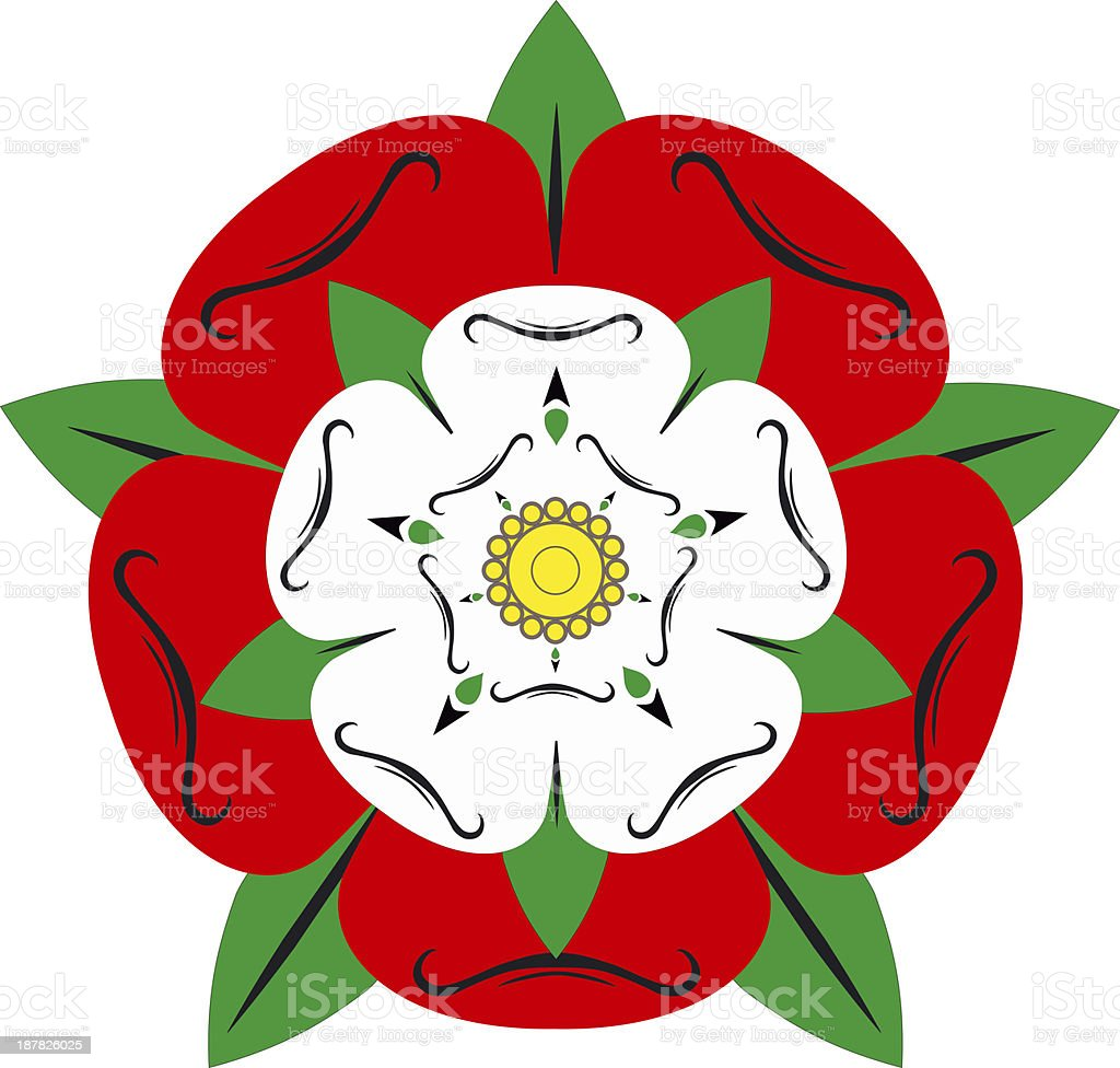 Tudor rose - Illustration vector art illustration